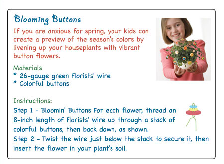 Blooming Buttons Craft Project